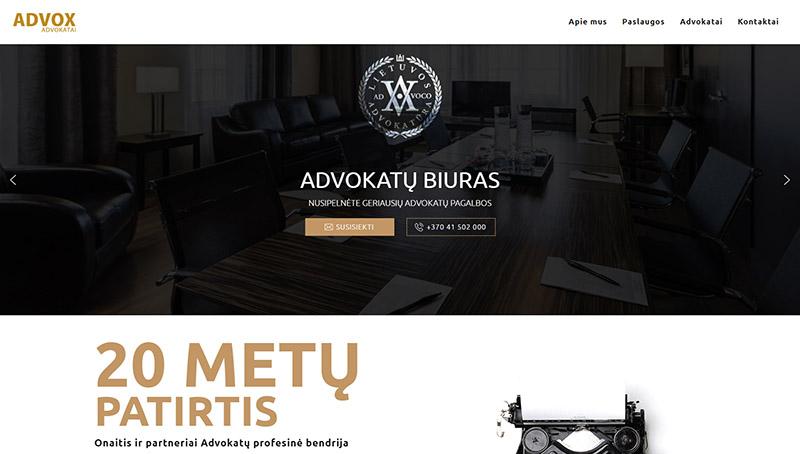 Interneto svetainė advokatams